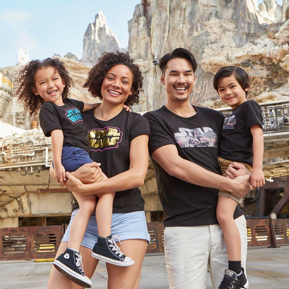 Star Wars Logo Flip Sequin T-Shirt for Women