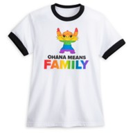 Stitch Ringer T-Shirt for Adults – Rainbow Disney Collection