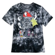 The Nightmare Before Christmas Tie Dye T-Shirt for Adults