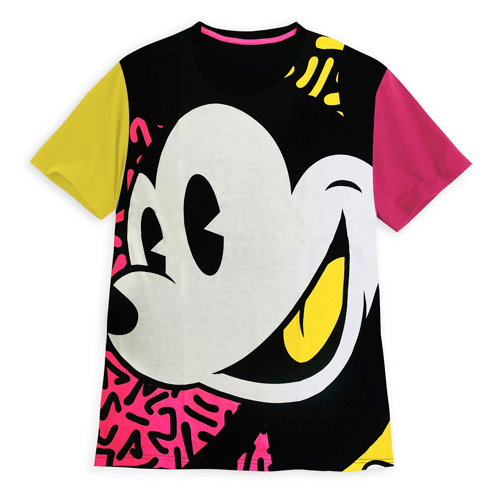 Mickey Mouse Neon Color Block T-Shirt for Adults