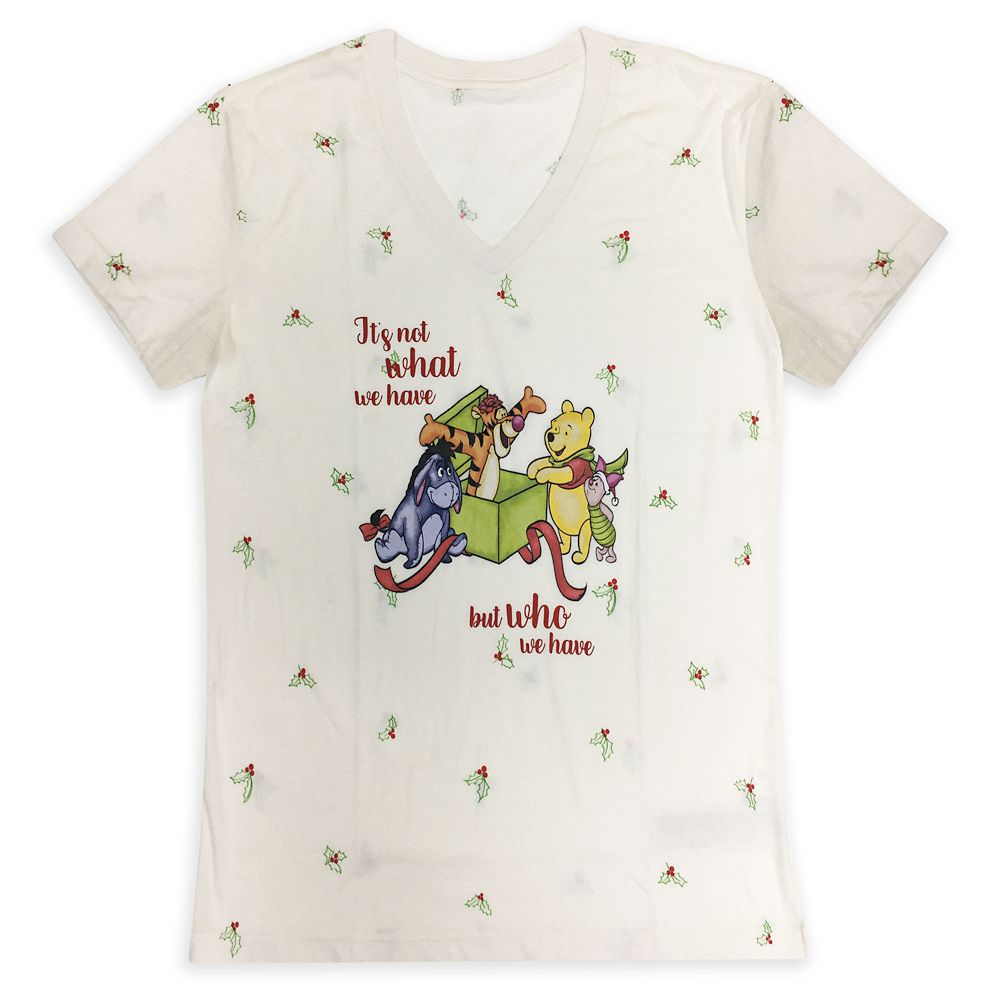 Winnie the Pooh and Pals Holiday T-Shirt for Women