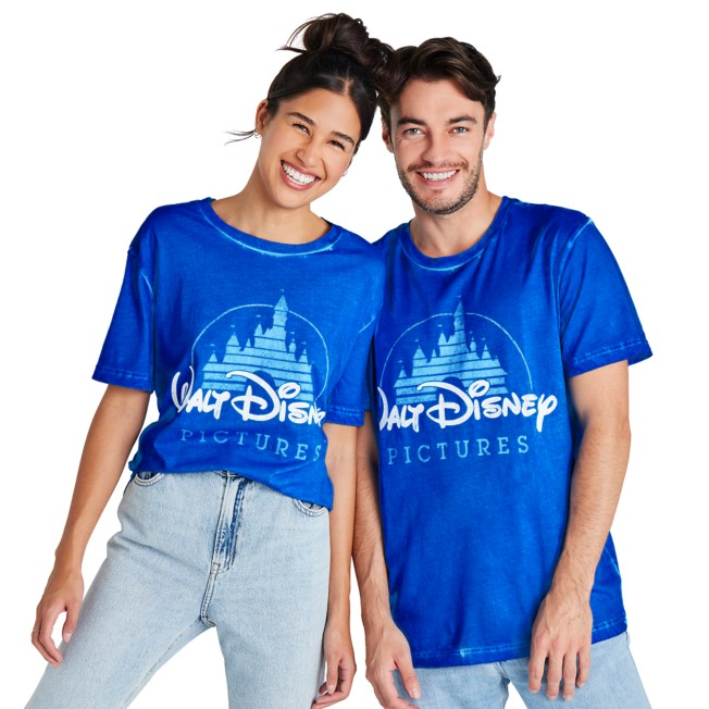 Walt Disney Pictures Logo Mineral Wash T-Shirt for Adults