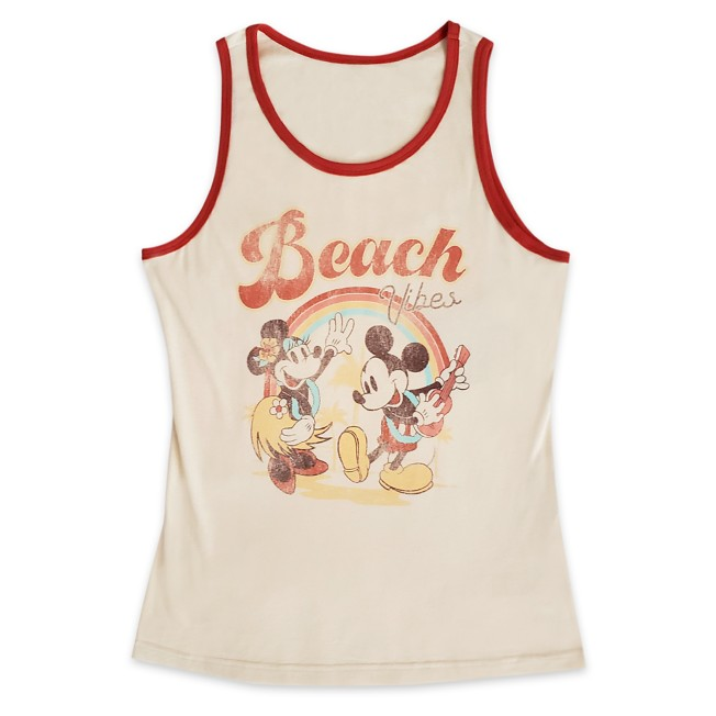 Mickey and Minnie Mouse Tropical Tank Top for Adults
