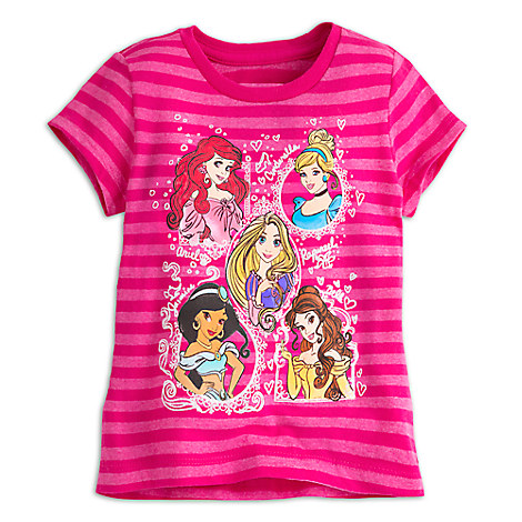 Disney Princess Striped Tee for Girls