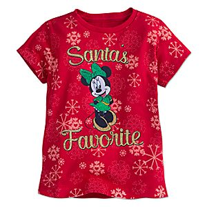Minnie Mouse Holiday Tee for Girls