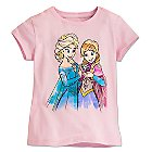 Anna and Elsa Tee for Girls