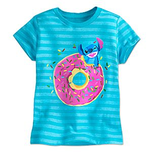 Stitch Striped Tee for Girls