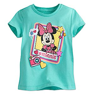 Minnie Mouse Selfie Tee for Girls