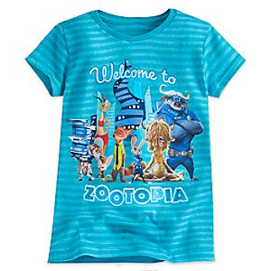 Zootopia Striped Tee for Girls