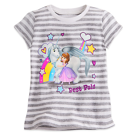 Sofia the First Striped Tee for Girls