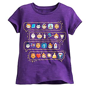Beauty and the Beast Emoji Tee for Girls