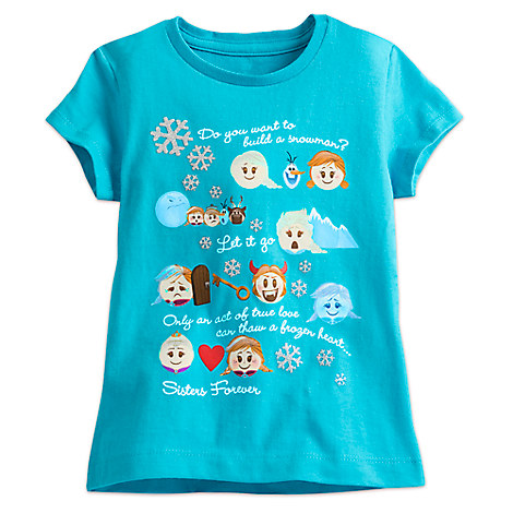 Frozen Emoji Tee for Girls
