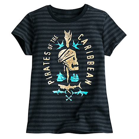 Pirates of the Caribbean: Dead Men Tell No Tales Striped Tee for Girls