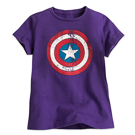 Captain America Shield Tee for Girls