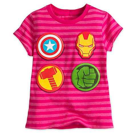 Avengers Icons Tee for Girls