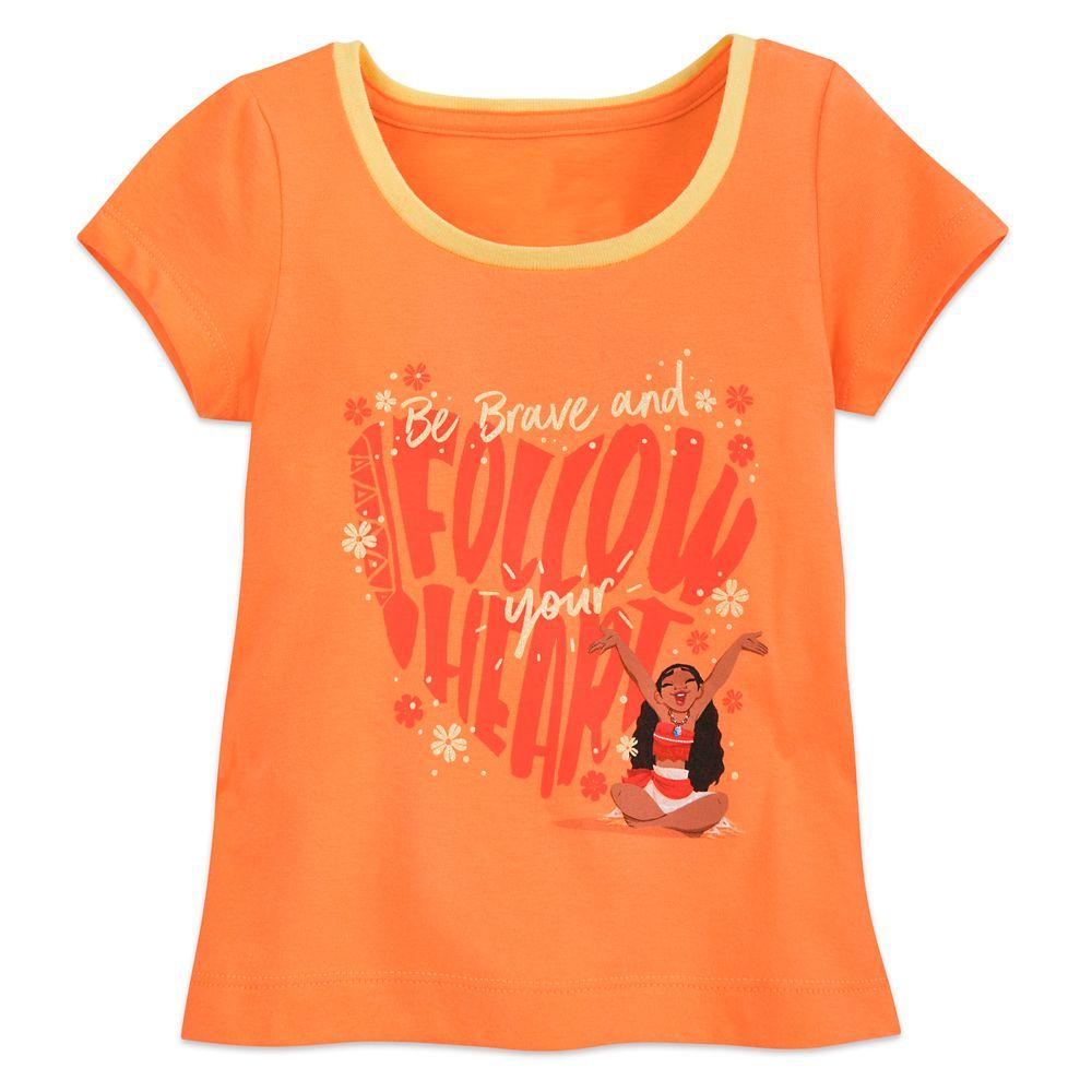Moana Ringer T-Shirt for Girls – Orange