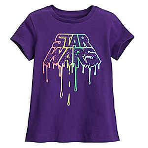 Star Wars Rainbow Logo T-Shirt for Girls