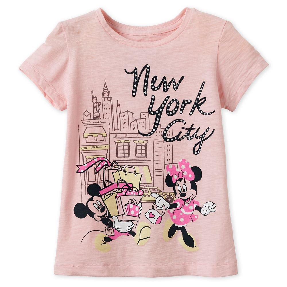 Mickey and Minnie Mouse Shopping T-Shirt for Girls – New York City