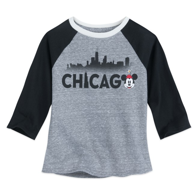 Minnie Mouse Chicago Raglan Shirt for Girls