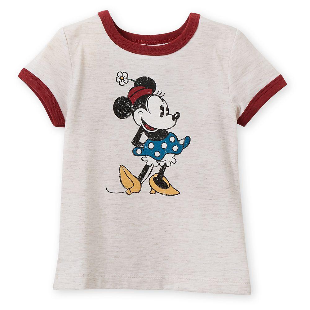 Disney Minnie Mouse Girls Long Sleeve T Shirt Top Tee Shirt 2 3 4 5 6 7 8 Years