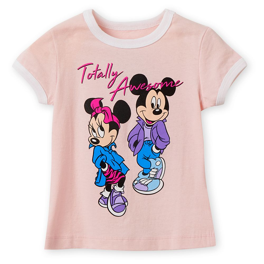 Mickey and Minnie Mouse ''Totally Awesome'' Ringer T-Shirt for Girls