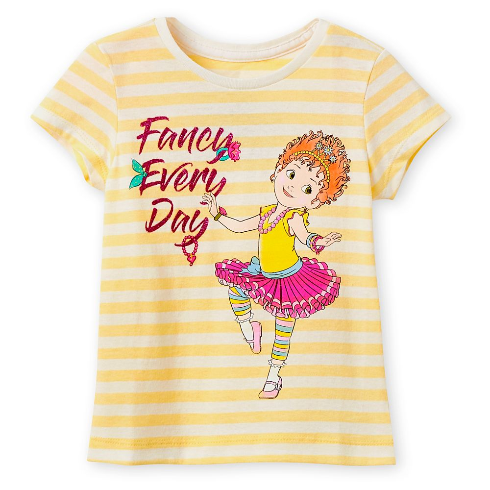 Fancy Nancy Yellow Striped T-Shirt for Girls