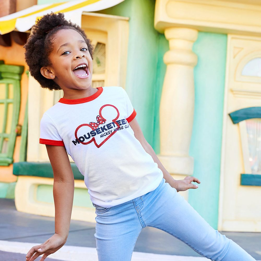 The Mickey Mouse Club Mouseketeer Ringer T-Shirt for Girls