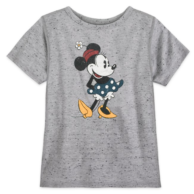 Minnie Mouse Classic T-Shirt for Girls – Gray – Sensory Friendly