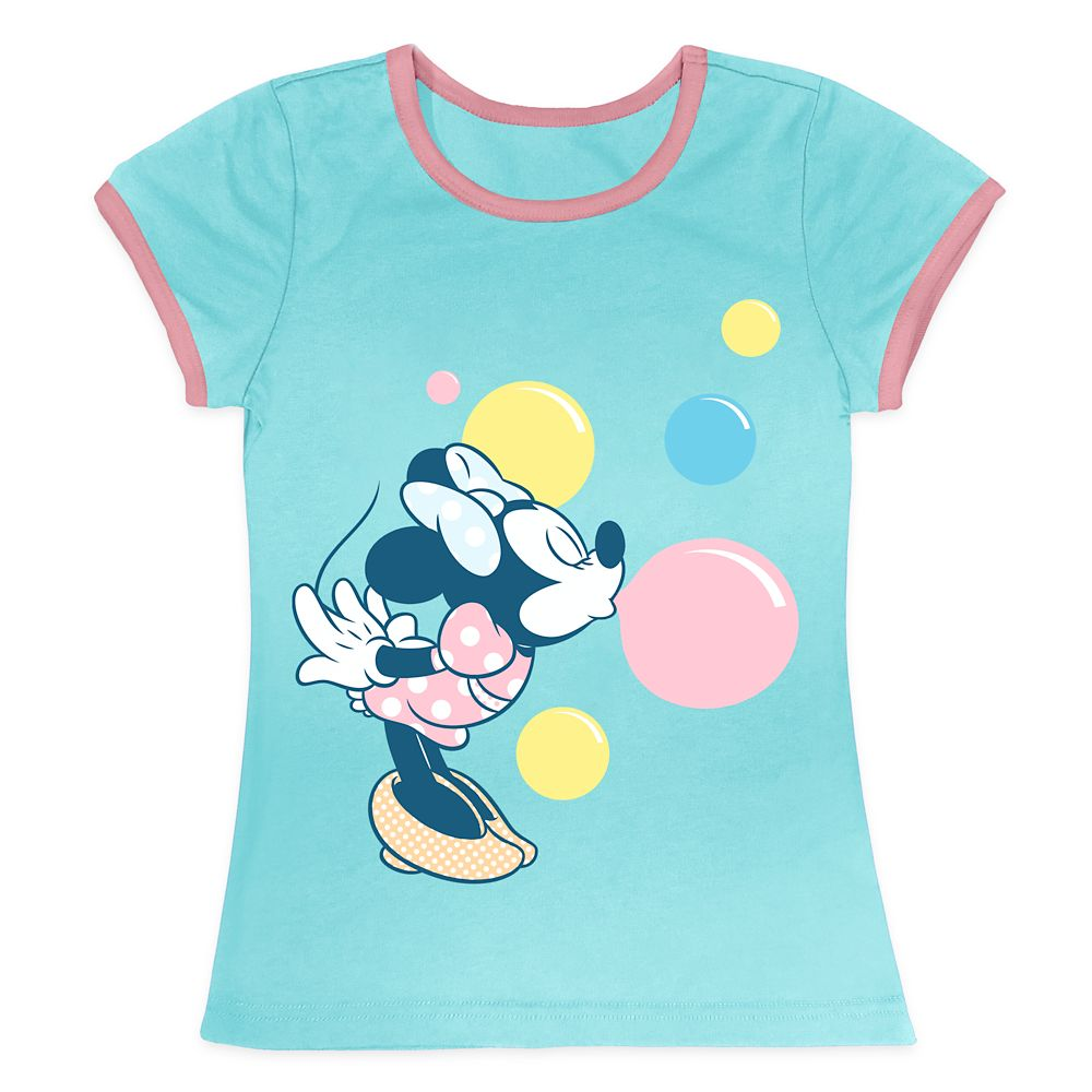 Minnie Mouse Bubbles Ringer Tee for Girls