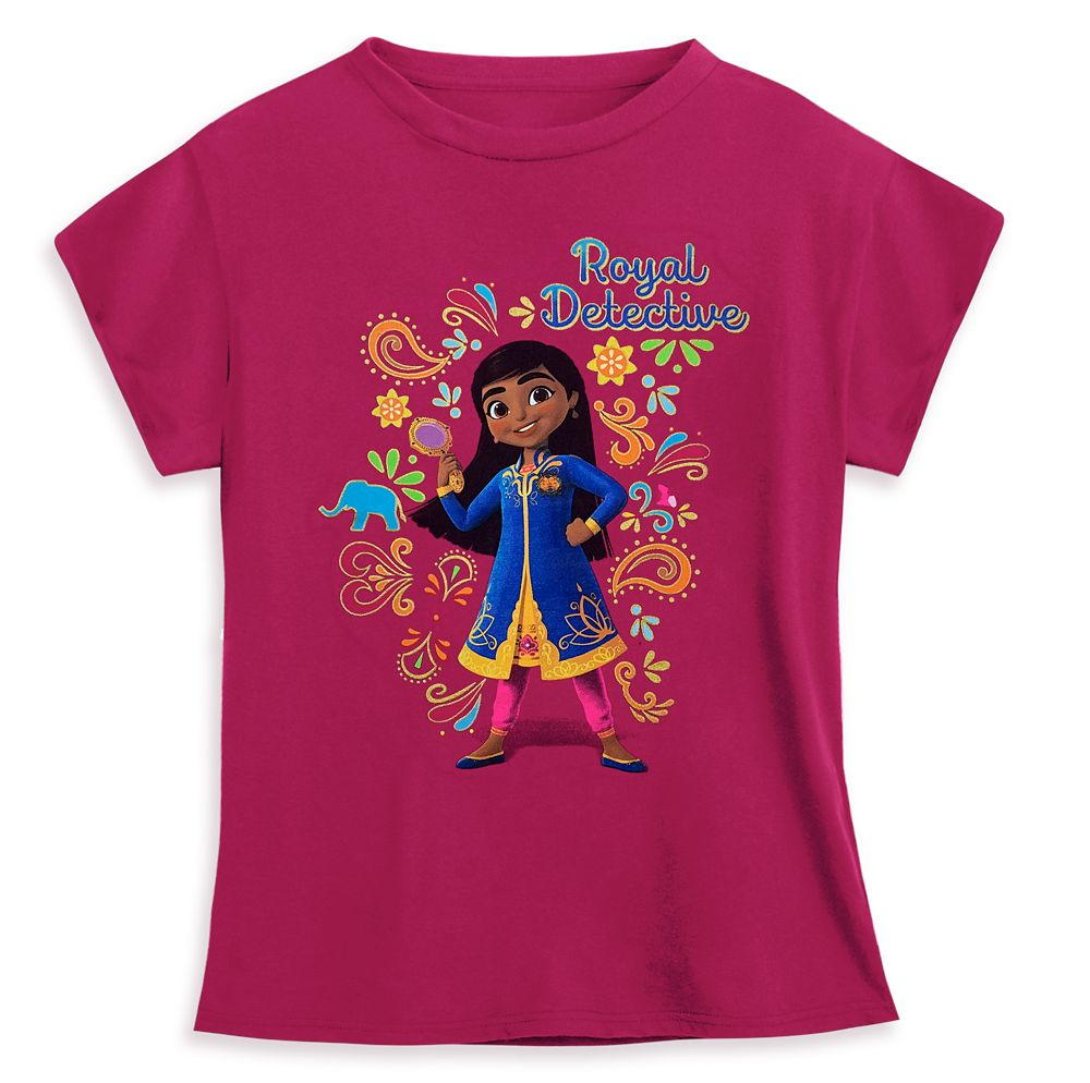Mira, Royal Detective T-Shirt for Girls – Pink