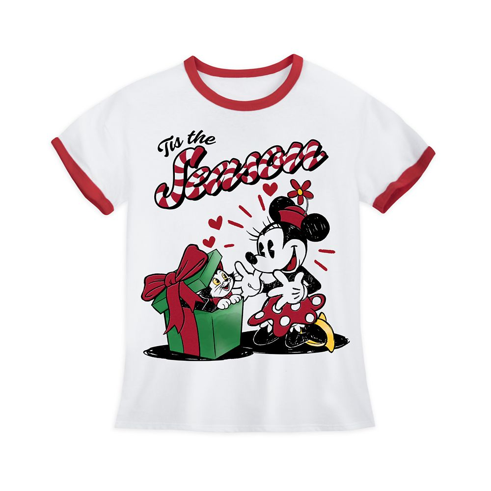 Minnie Mouse and Figaro Holiday Ringer T-Shirt for Girls