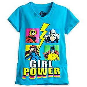 Marvel Super Heroines Tee for Girls by Mighty Fine
