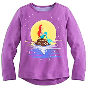 The Little Mermaid Long Sleeve Tee for Girls