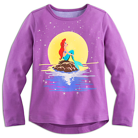 The Little Mermaid Long Sleeve Tee for Girls
