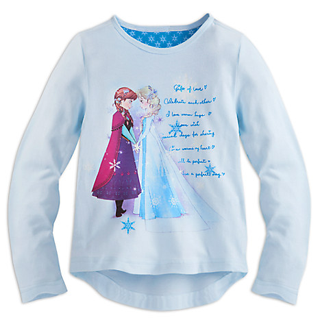 Anna and Elsa Long Sleeve Tee for Girls