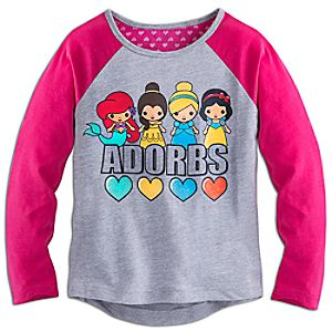 Disney Princess Adorbs Long Sleeve Raglan Tee for Girls