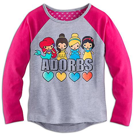 Disney Princess Adorbs Long Sleeve Raglan Tee for Girls