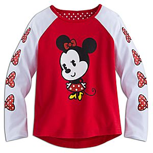 Minnie Mouse Cutie Long Sleeve Raglan Tee for Girls