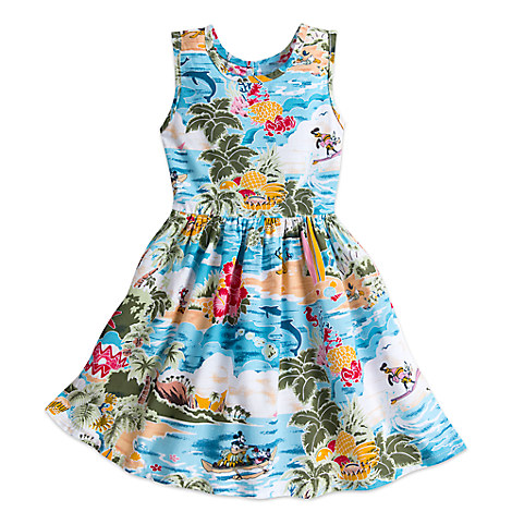 Mickey Mouse and Friends Hawaiian Dress for Girls