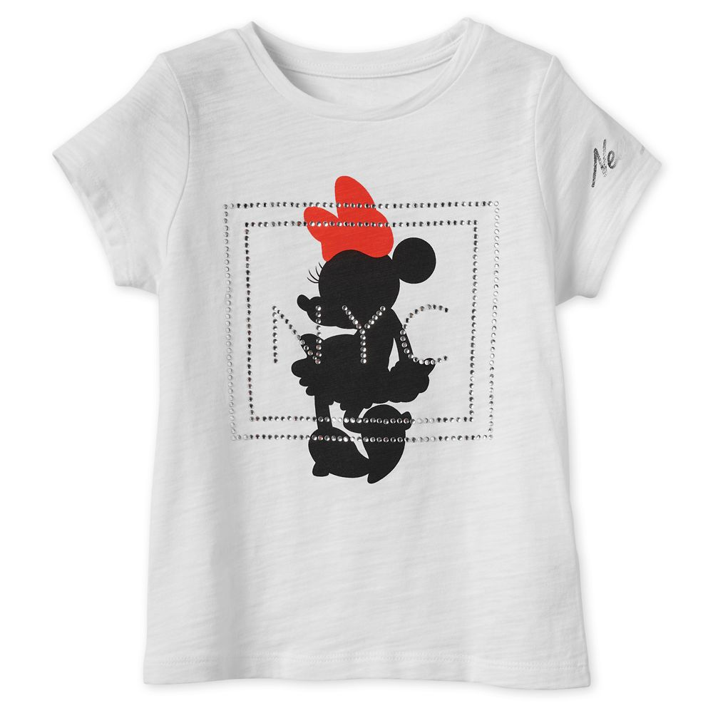 Minnie Mouse Jeweled T-Shirt for Girls   New York City Official shopDisney