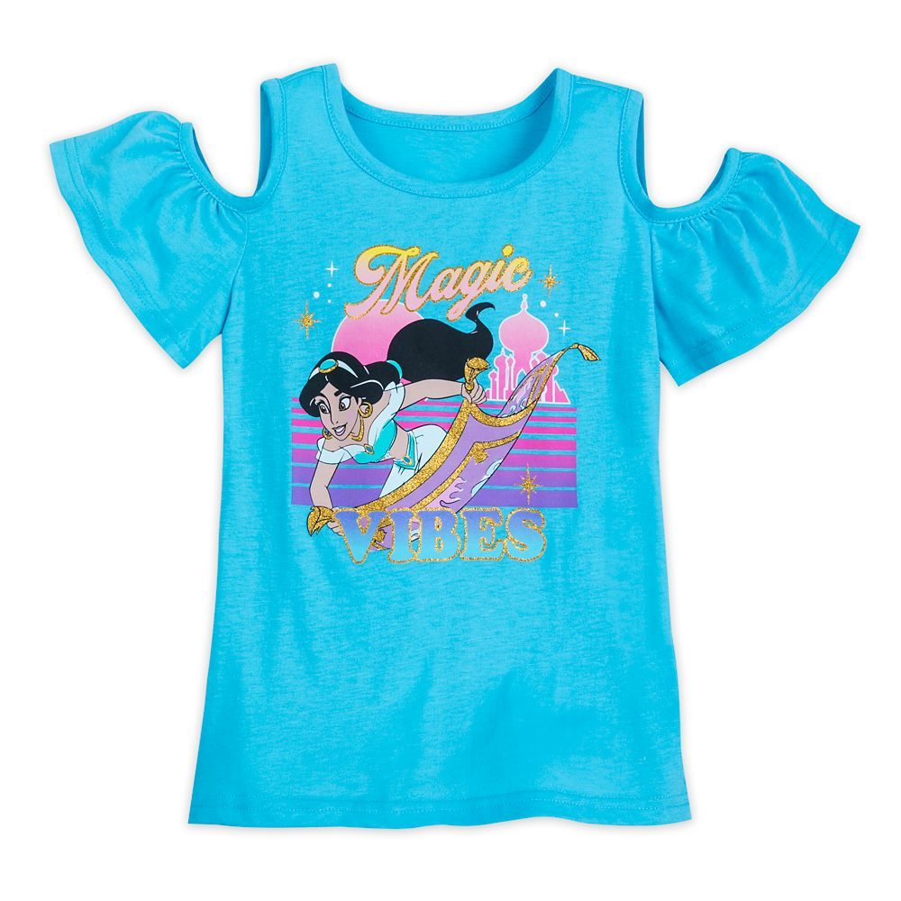 Jasmine Cold Shoulder T-Shirt for Girls – Aladdin