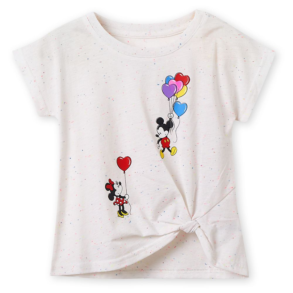 Mickey and Minnie Mouse Balloons T-Shirt for Girls