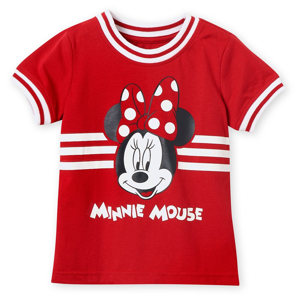 Minnie Mouse Red Ringer T-Shirt for Girls