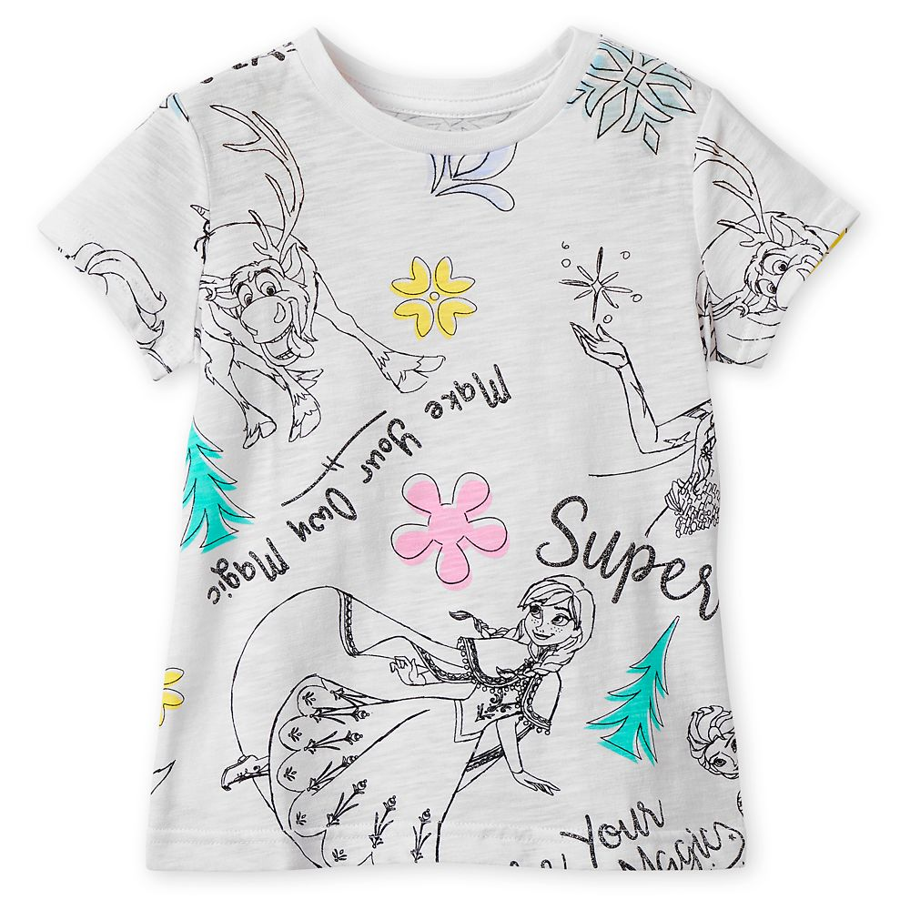 Frozen Sketch Art T-Shirt for Girls