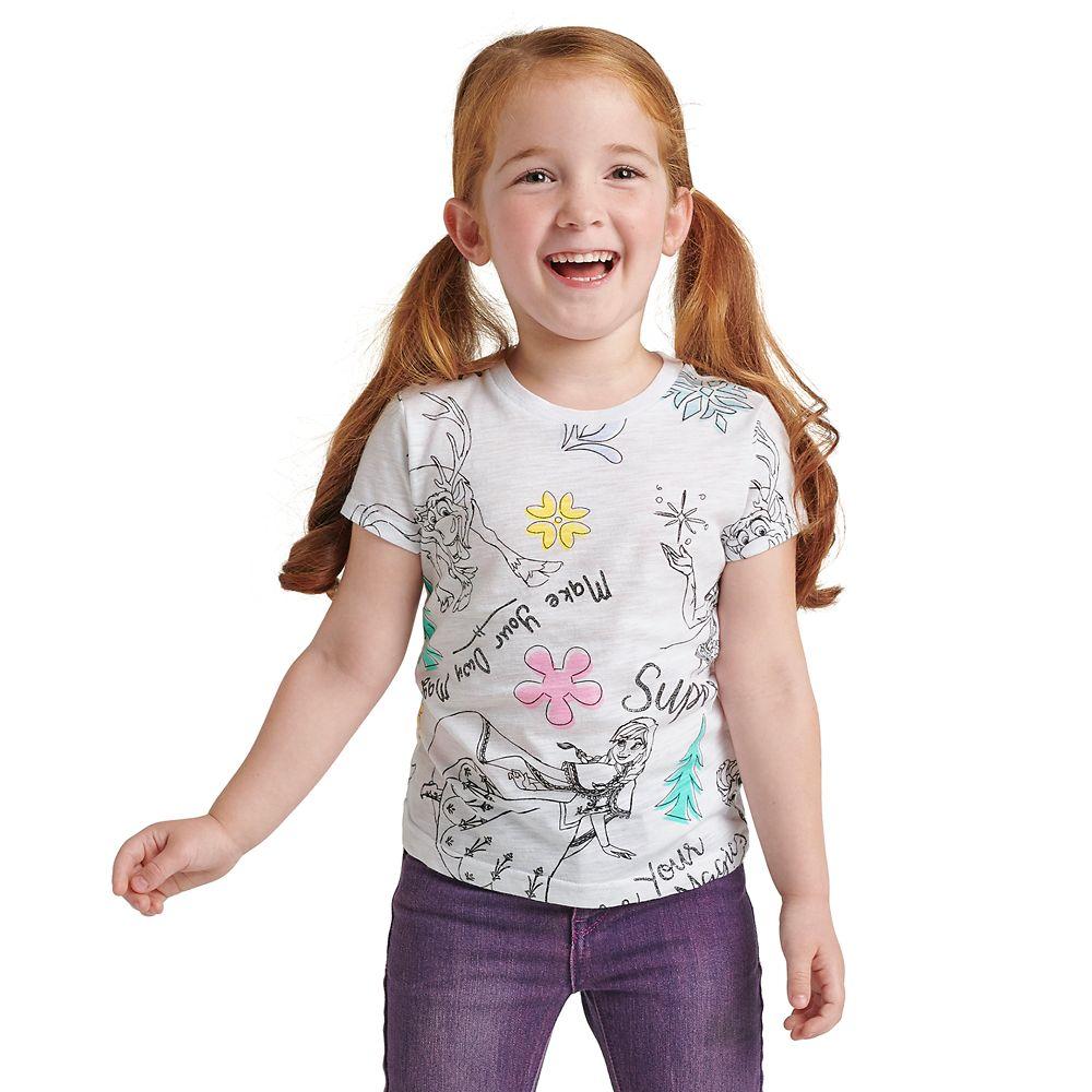 Frozen Sketch Art T-Shirt for Girls