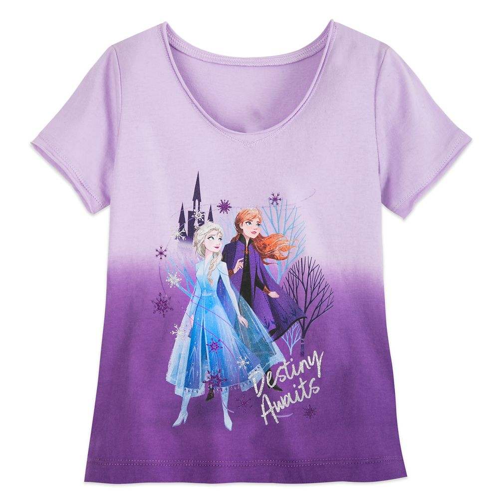 Disney Frozen Girls Long Sleeve T-Shirt Top from New Frozen 2 Movie