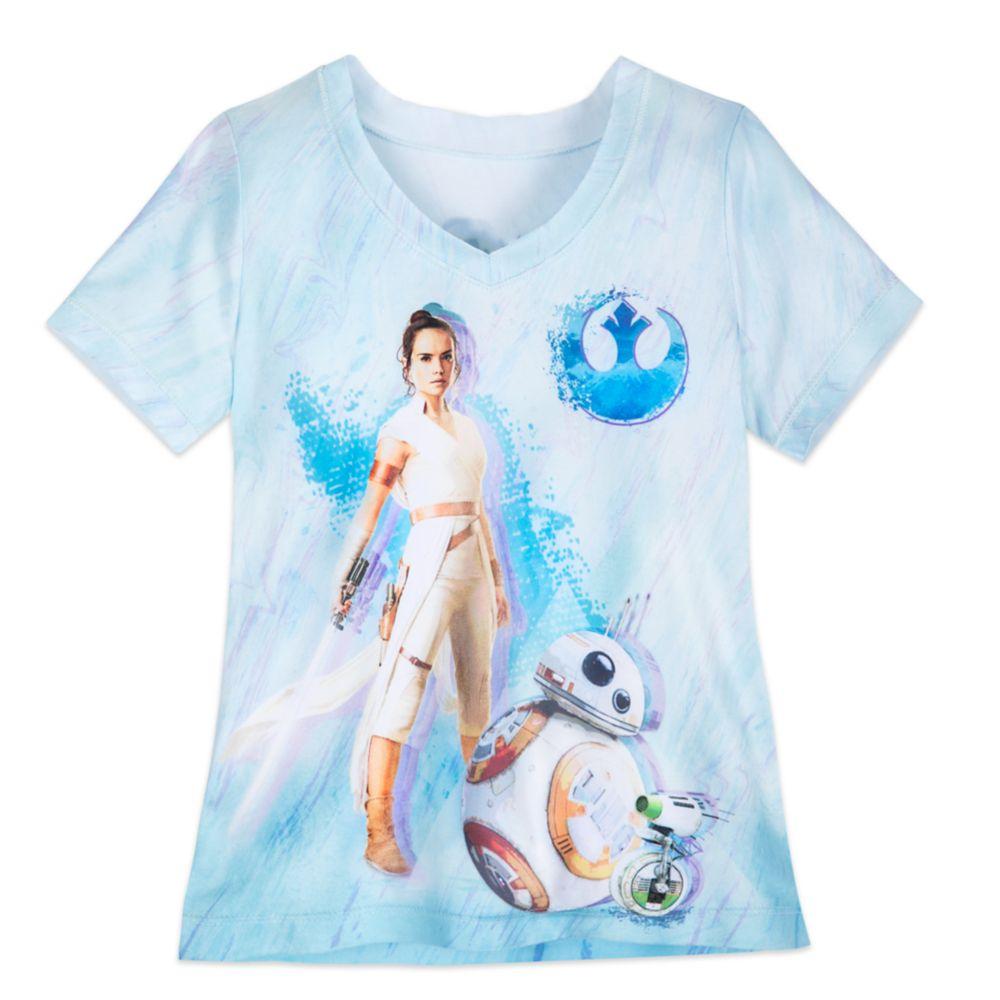Rey V Neck T Shirt For Girls Star Wars The Rise Of Skywalker Shopdisney