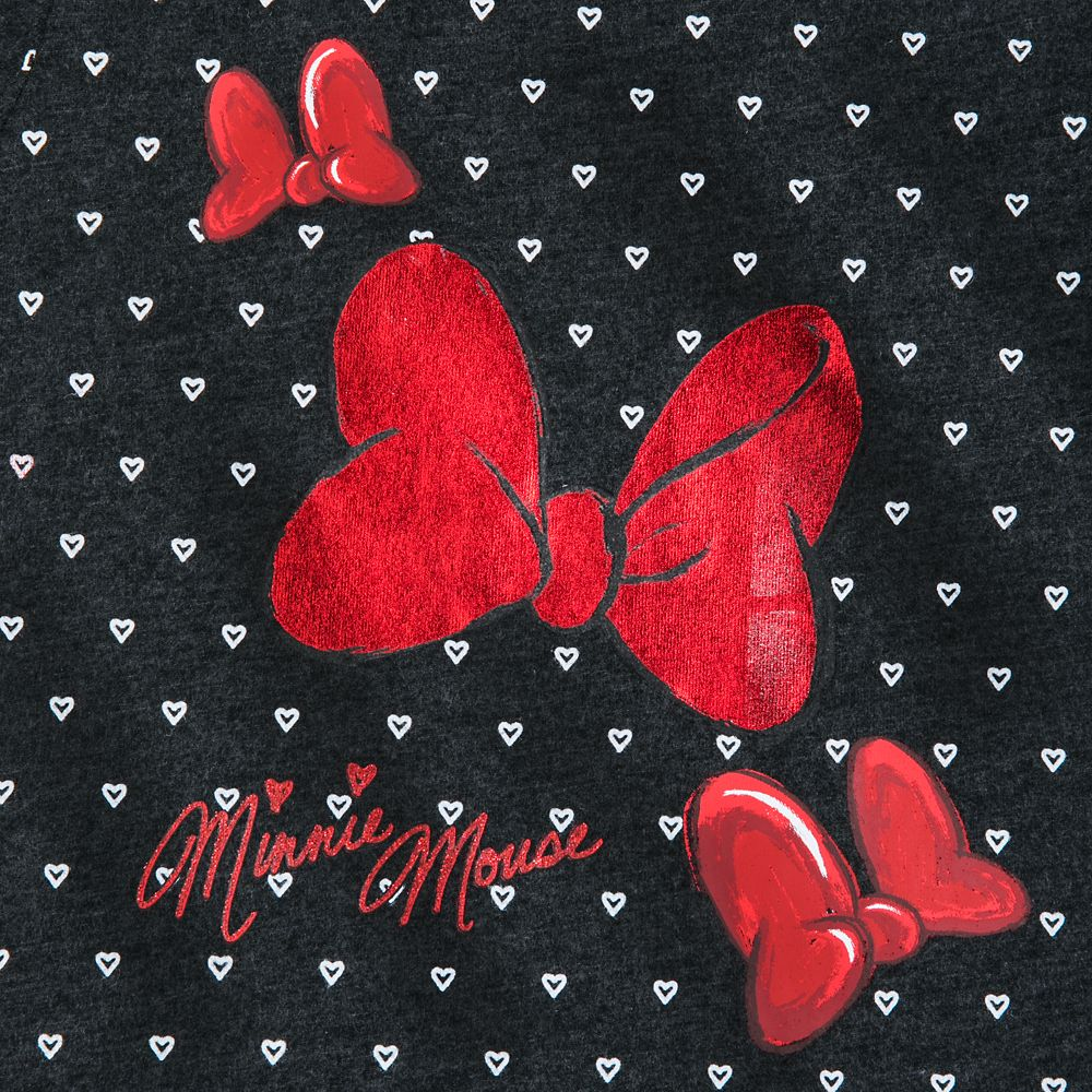 Minnie Mouse Bow and Hearts T-Shirt for Girls