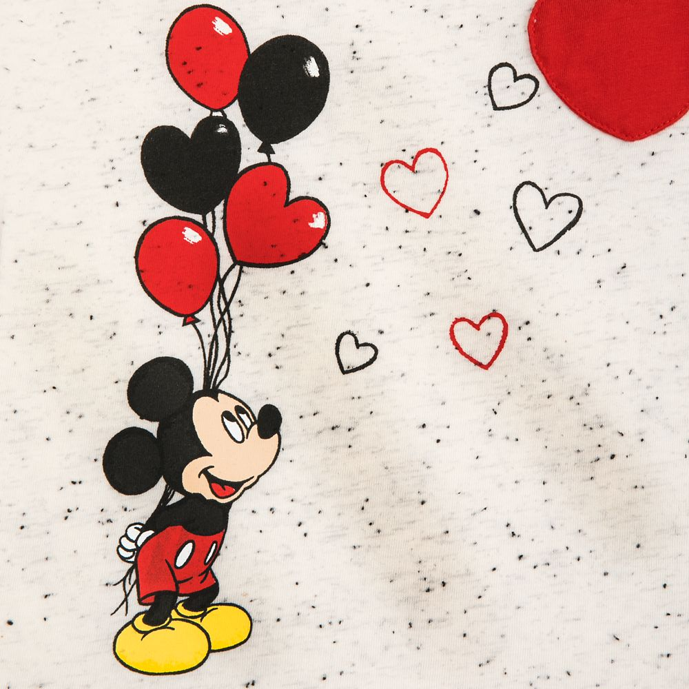 Mickey and Minnie Mouse Heart Balloon T-Shirt for Girls