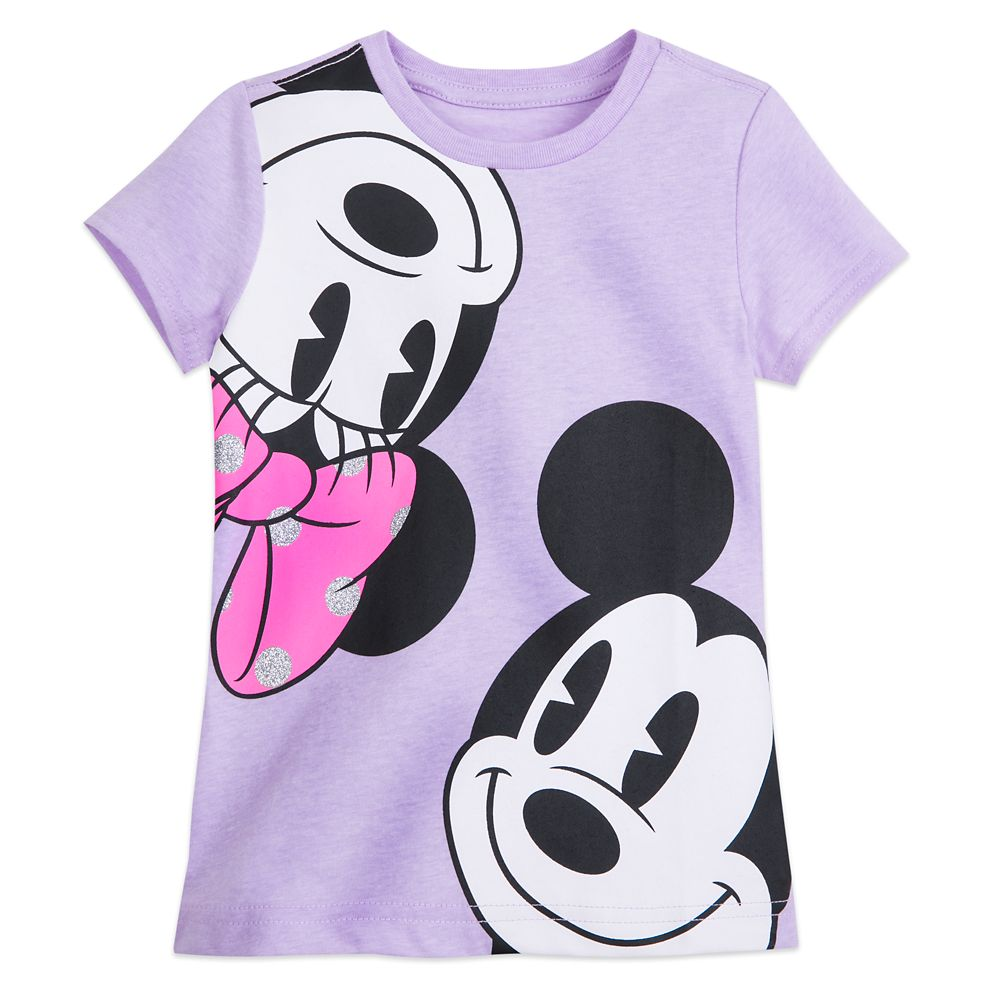 Mickey and Minnie Faces T-Shirt for Girls
